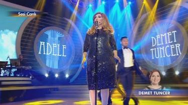 Demet Tuncer'in Adele canlandırması